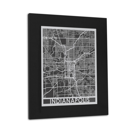 Stainless Steel Map // Indianapolis