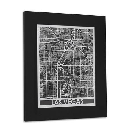 Stainless Steel Map // Las Vegas