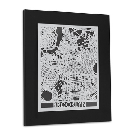 Stainless Steel Map // Brooklyn