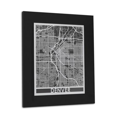 Stainless Steel Map // Denver