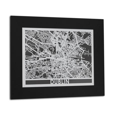Stainless Steel Map // Dublin