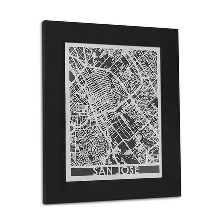 Stainless Steel Map // San Jose