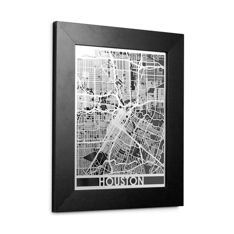 Stainless Steel Map // Houston