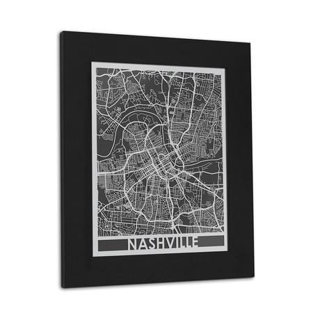 Stainless Steel Map // Nashville