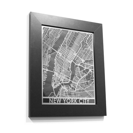 Stainless Steel Map // New York City