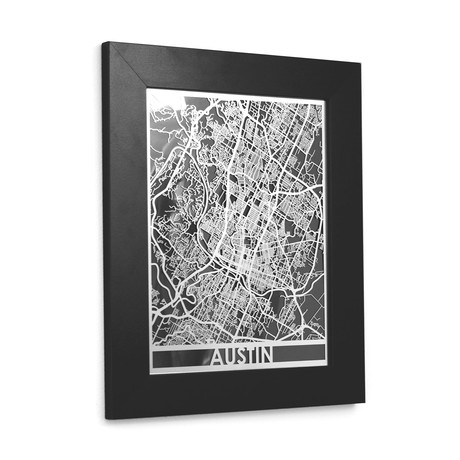 Stainless Steel Map // Austin