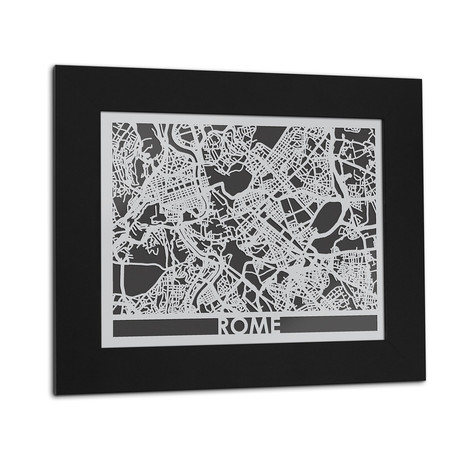 Stainless Steel Map // Rome