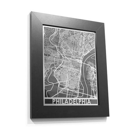 Stainless Steel Map // Philadelphia