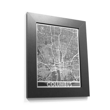 Stainless Steel Map // Columbus