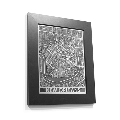 Stainless Steel Map // New Orleans