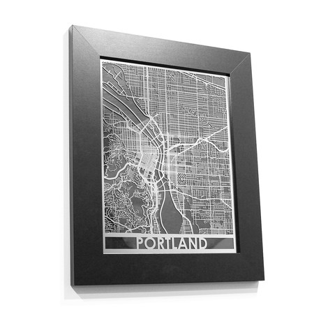 Stainless Steel Map // Portland