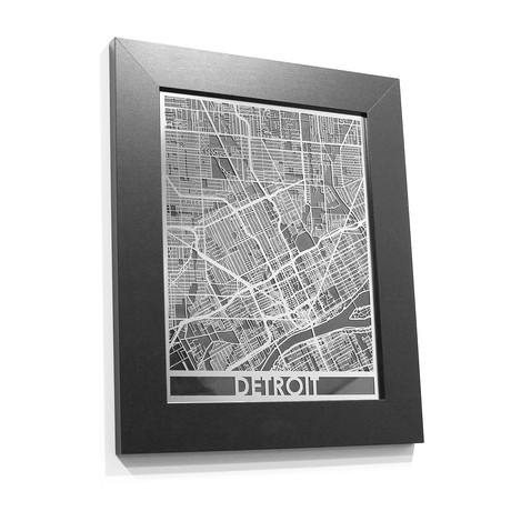 Stainless Steel Map // Detroit