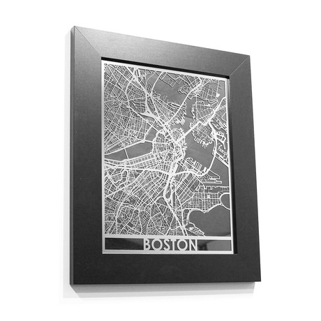 Stainless Steel Map // Boston