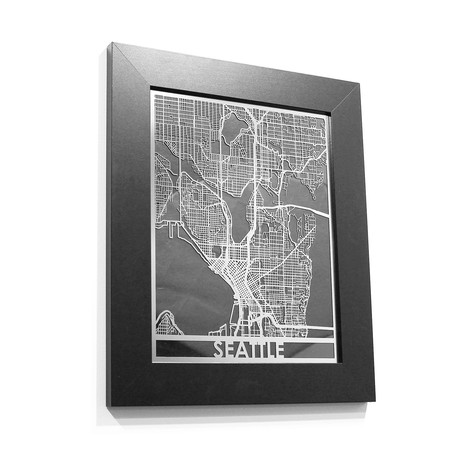 Stainless Steel Map // Seattle