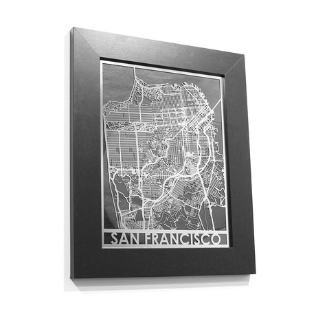 Stainless Steel Map // San Francisco