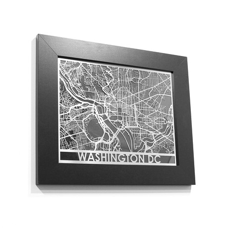 Stainless Steel Map // Washington DC