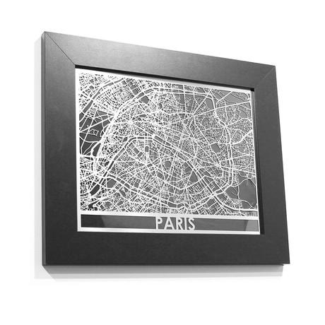 Stainless Steel Map // Paris
