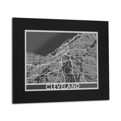 Stainless Steel Map // Cleveland