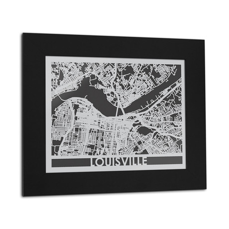 Stainless Steel Map // Louisville