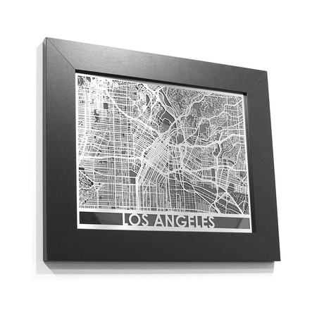 Stainless Steel Map // Los Angeles