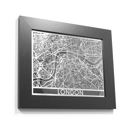 Stainless Steel Map // London