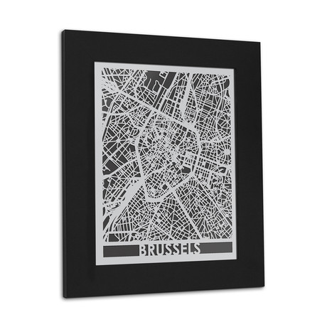Stainless Steel Map // Brussels