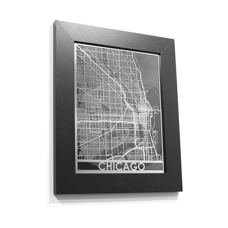 Stainless Steel Map // Chicago