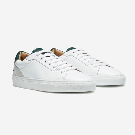 Lione Sneakers // White + Dark Green (Euro: 40)