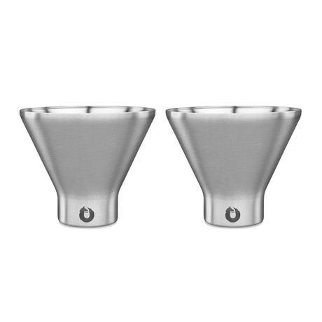 Insulated Stainless Steel Martini Glass // Set of 2 (Steel)