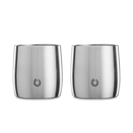 Insulated Stainless Steel Rocks Glass // Set of 2 (Steel)