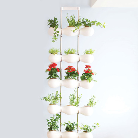 Eco-Curtain + Stand Base + Steel Rods (White)