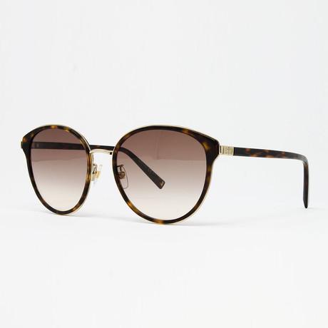 Women's GV7161 Sunglasses // Havana + Gold