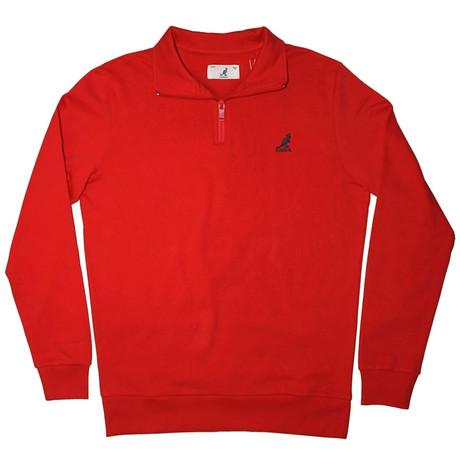 1/4 Zip Fleece Pullover // Infrared (S)