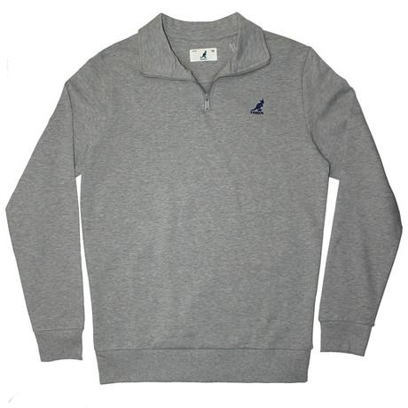 1/4 Zip Fleece Pullover // Ash Gray (S)