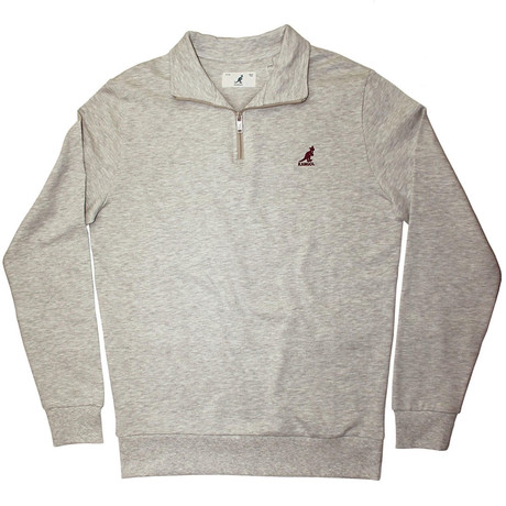 1/4 Zip Fleece Pullover // Oat Mix (S)