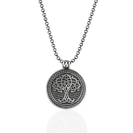 "Yggdrasil Tree Of Life Necklace // Silver (22"")"