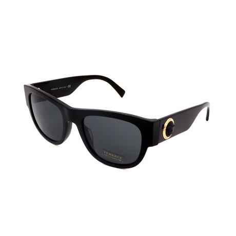Versace // Men's VE4359A-GB187 Logo Sunglasses // Black + Gray