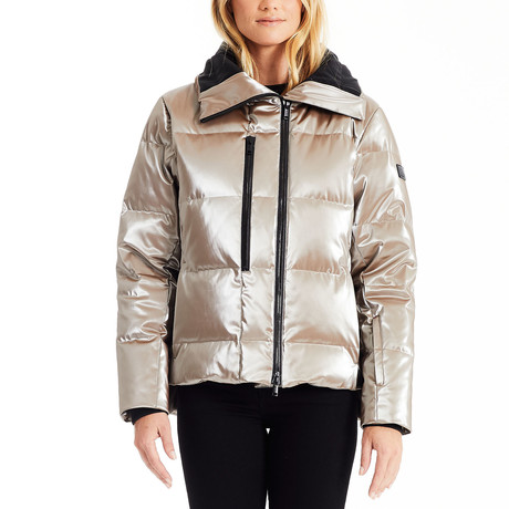 Women's High Shine Bomber // Champagne (S)
