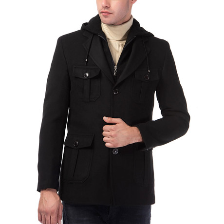 Marc Coat // Black (Medium)