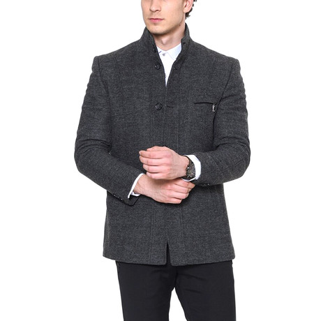 Redwood Coat // Patterned Gray (Small)