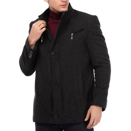 Atlantic Coat // Dotted Anthracite (Medium)