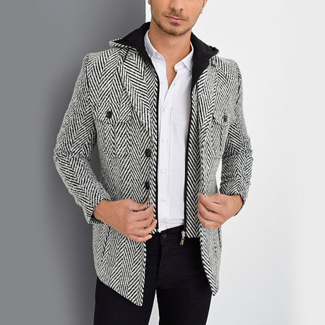 Vienna Coat // Patterned Black (Small)