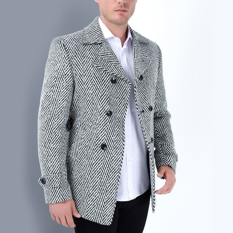 Squaw Coat // Patterned Black (Small)