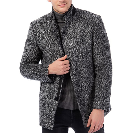 Athens Overcoat // Patterned Gray (Small)