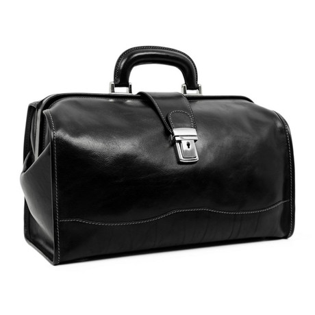 David Copperfield // Small Leather Doctor Bag // Black