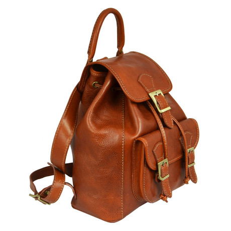 Jane Eyre // Leather Backpack // Cognac