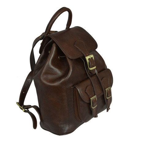 Jane Eyre // Leather Backpack // Dark Brown