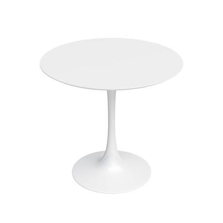 """Kurv 31.5"""" White Cafe Table"""