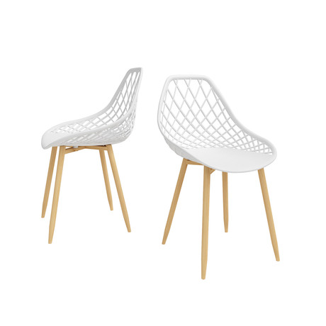 Kurv Dining Chair // Set of 2 (White + Natural)
