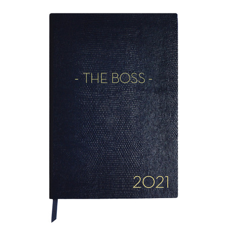 2021 Diary // The Boss // Navy Blue (A6 Book)